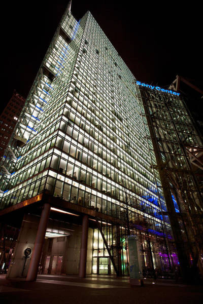 Sony Photograph - Sony Center At Night by Mike Reid