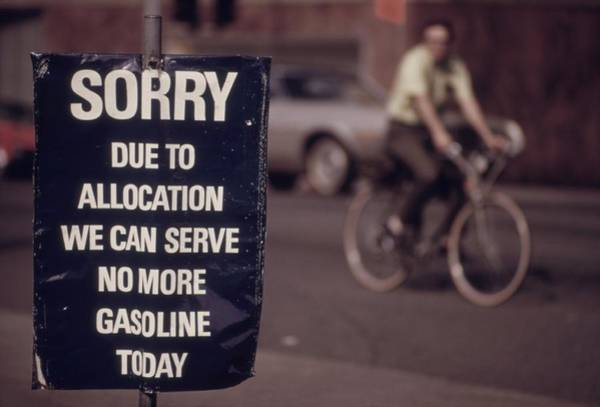 Energy Crisis Photograph - Sorry. Due To Allocation We Can Serve by Everett