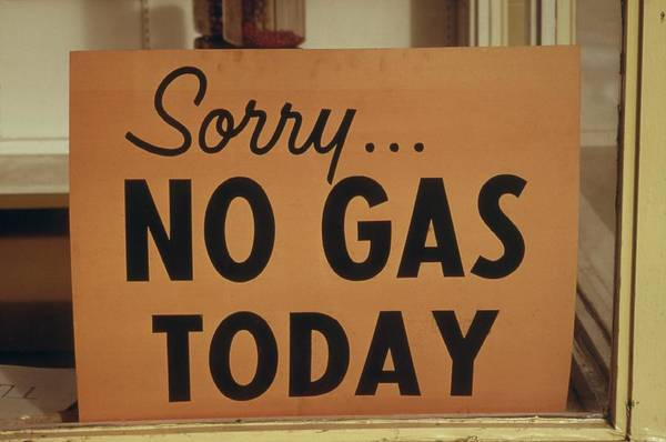 Energy Crisis Photograph - Sorry No Gas Today Sign At An Oregon by Everett