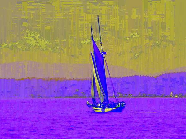 Elliott Digital Art - Sound Sailin 7 by Tim Allen