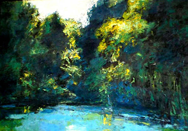 Wall Art - Painting - source of the river Mlava by Vladimir Vlahovic