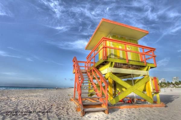 Photograph - South Beach Bay Watch by Sean Allen