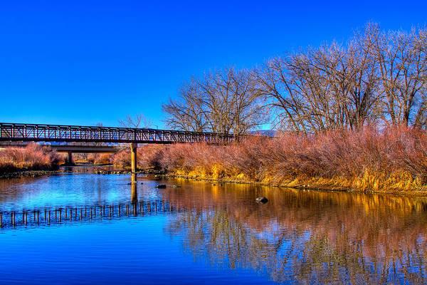 Photograph - South Platte Bridge Reflected by David Patterson