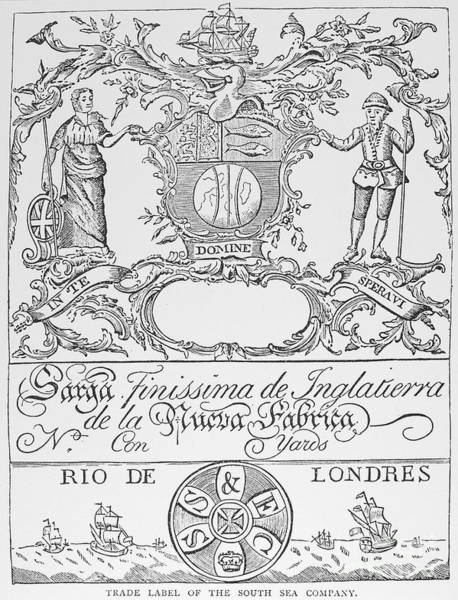 Wall Art - Photograph - South Sea Company, 1711 by Granger