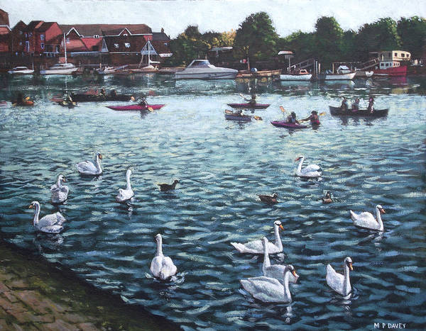 Wall Art - Painting - Southampton Riverside Park River Itchen by Martin Davey