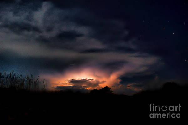Photograph - Southern Cross And Night Thunderstorm by Mareko Marciniak
