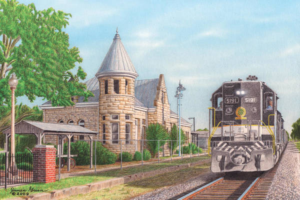 Freight Trains Painting - Southern Pride by James Green