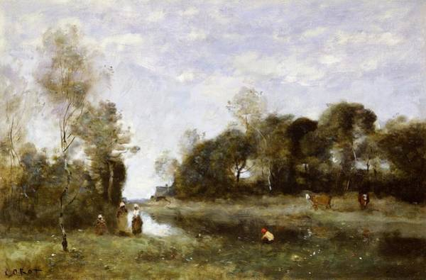 Souvenirs Painting - Souvenir Of The Bresle At Incheville  by Jean Baptiste Camille Corot