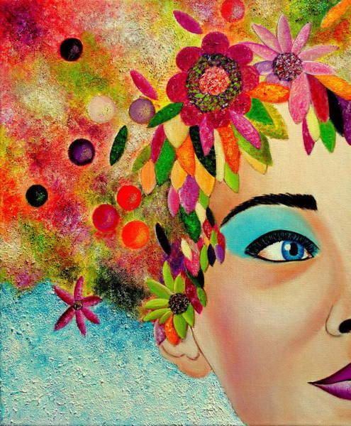 Primavera Painting - Soy La Primavera-1 by Carmen Junyent