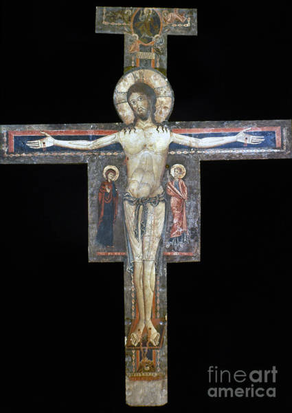 Wall Art - Photograph - Sozio: Crucifix, 13th C by Granger