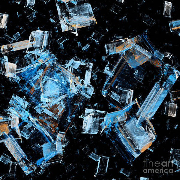 Debris Digital Art - Space Debris by Andee Design