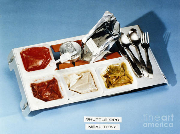 Photograph - Space: Food Tray, 1982 by Granger