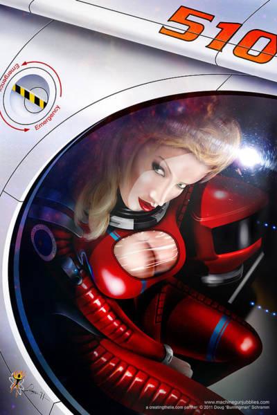 Digital Art - Space Girl by Doug Schramm