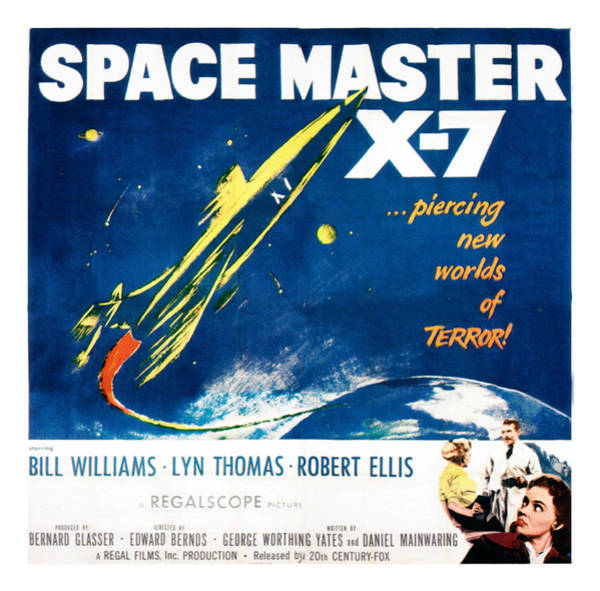 1958 Movies Photograph - Space Master X-7, Poster Art, 1958 by Everett