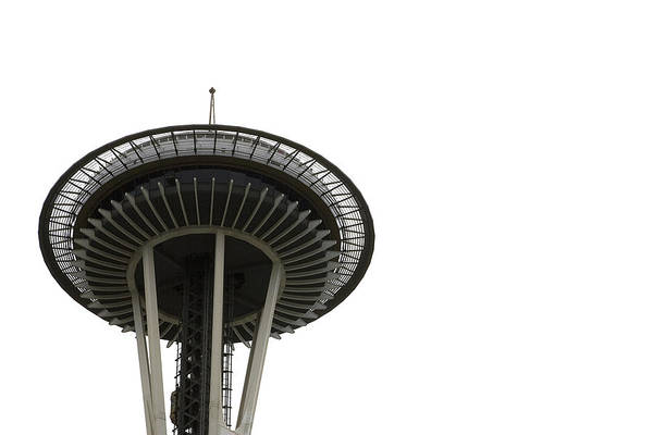 Photograph - Space Needle In Black And White by Lorraine Devon Wilke