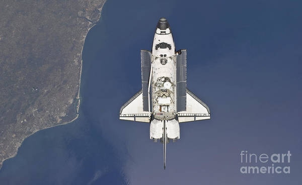 Photograph - Space Shuttle Atlantis Backdropped by Stocktrek Images