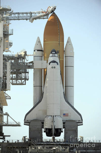 Photograph - Space Shuttle Atlantis Sits by Stocktrek Images