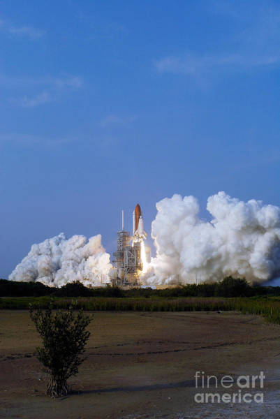 Photograph - Space Shuttle Endeavour Liftoff by Stocktrek Images