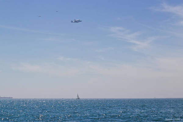 Flyby Photograph - Space Shuttle Flyover by Heidi Smith