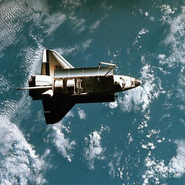 Photograph - Space Shuttle In Space by Stocktrek Images