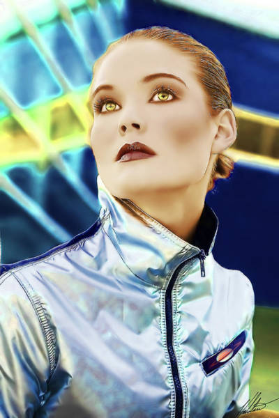 Caller Digital Art - Space Woman by Halstan Williams