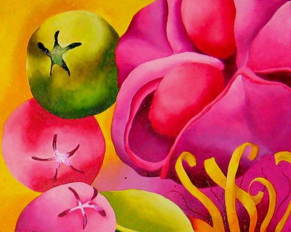 Wall Art - Painting - Spatterdock - Panel 2 Of 3 by Elizabeth Elequin