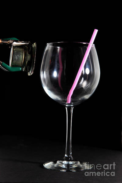 Soda Straws Photograph - Speaker And A Glass With No Resonance by Ted Kinsman