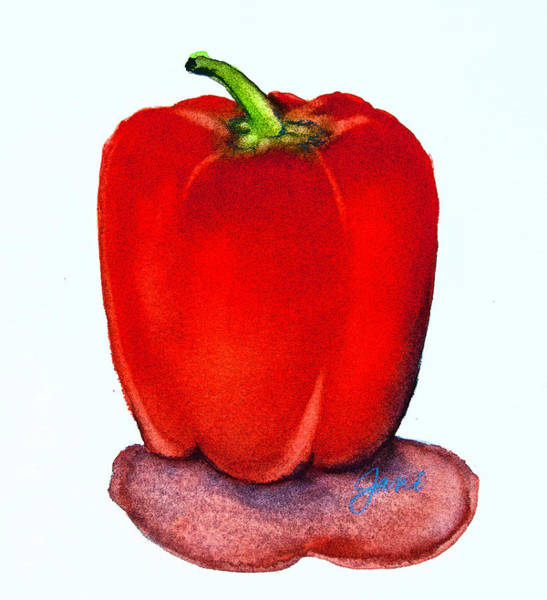 Digital Art - Speckled Red Pepper by Jani Freimann
