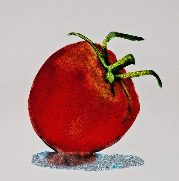 Digital Art - Speckled Tomato by Jani Freimann