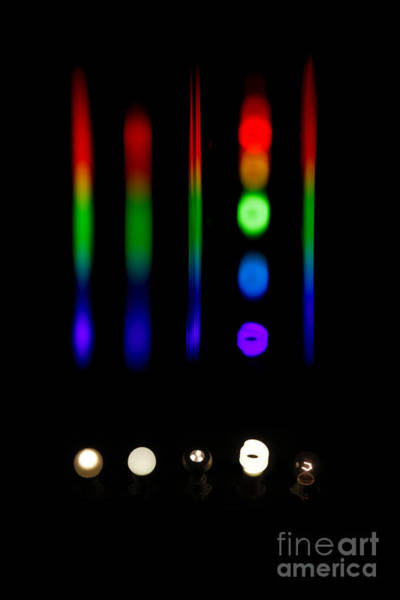 Photograph - Spectra Of Energy Efficient Lights by Ted Kinsman