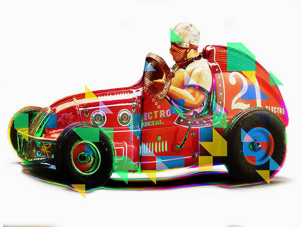 Toy Mixed Media - Speed Demon by Russell Pierce