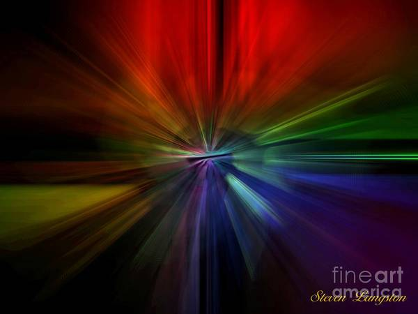 Wall Art - Painting - Speed Of Light by Steven Lebron Langston