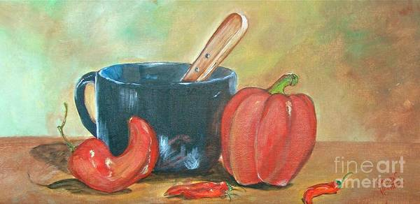 Wall Art - Painting - Spicey by Sandra Valentini
