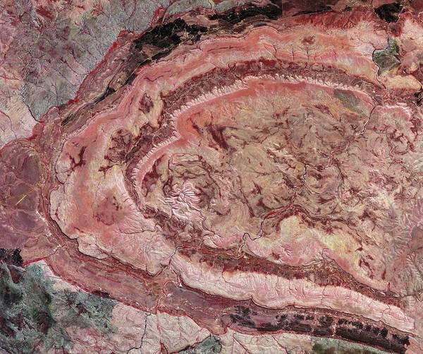Spider Rock Photograph - Spider Crater, Australia, Satellite Image by Nasavrs
