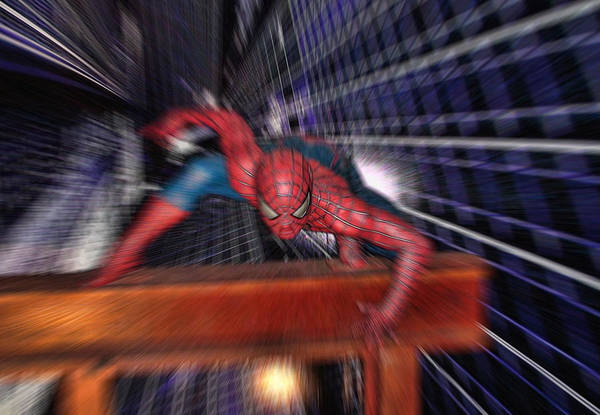 Wall Art - Photograph - Spider Man In Action by Douglas Barnard