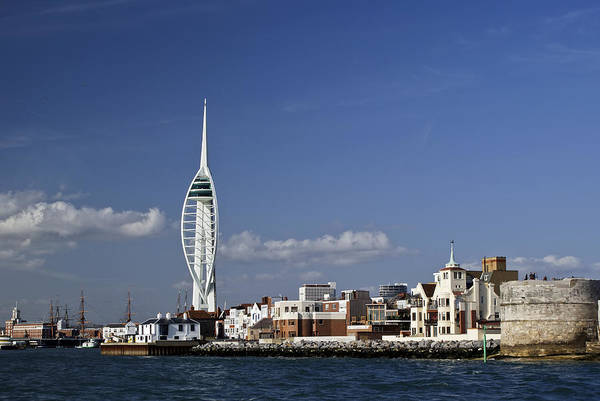 Photograph - Spinnaker Tower And Round Tower Portsmouth by Gary Eason