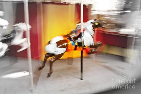 Photograph - Spinning Carousel by Rachel Duchesne