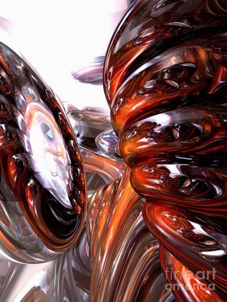 Wall Art - Digital Art - Spiral Dimension Abstract by Alexander Butler