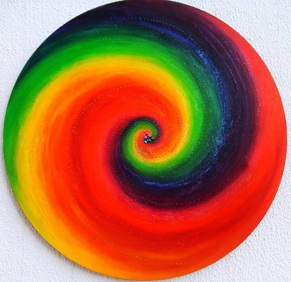 Acrilic Painting - Spiral Phi by Carla Marcelo