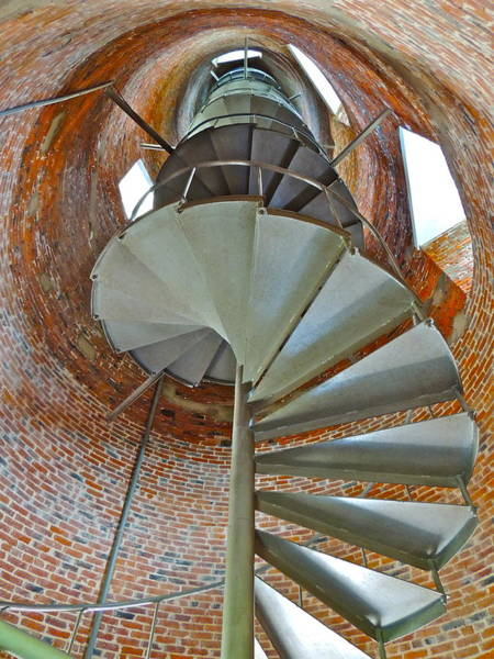 Ocracoke Lighthouse Photograph - Spiral Staircase by Eve Spring