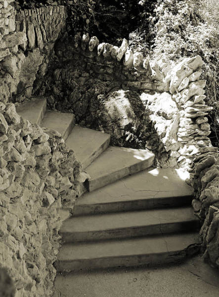 Photograph - Spiral Stone Steps by Sarah Broadmeadow-Thomas