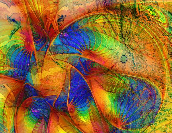 Digital Art - Spiralling Into Summer by Amanda Moore
