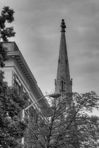 Photograph - Spire From Trees by Dennis Dame