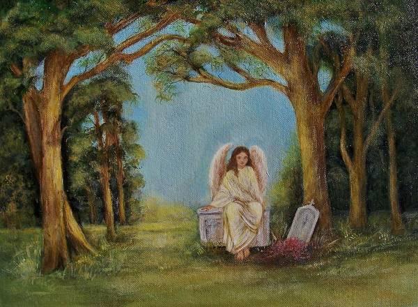 Angel Oak Painting - Spirit by Jane Landry  Read
