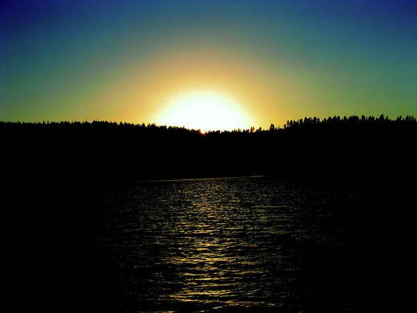 Digital Art - Spirit Lake Sunset by Gary Baird