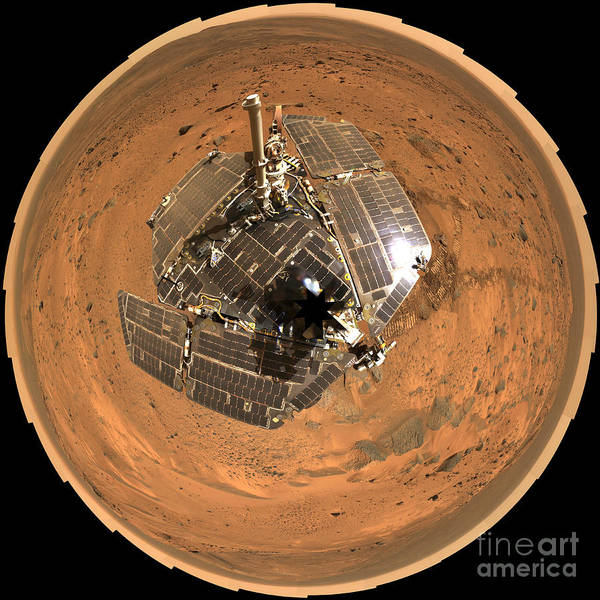 Photograph - Spirit Rover On Mars by Nasa