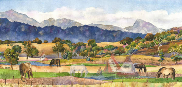 Grazing Wall Art - Painting - Spirits Of The Ancestors by Anne Gifford
