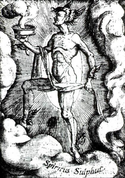 Brimstone Photograph - Spiritus Sulfur, Alchemical Element by Science Source