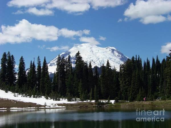 Montain Photograph - Splendor Of Mt. Rainier by Charles Robinson
