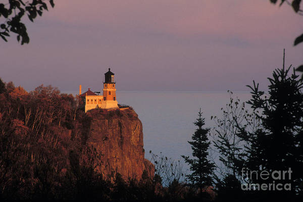 Foghorns Photograph - Split Rock Lightghouse - Fs000635 by Daniel Dempster